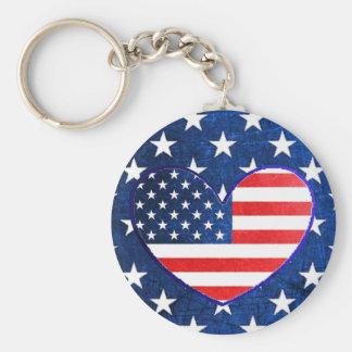 US-Flagge-Patriotismus-Portoschlüsselkette Schlüsselanhänger