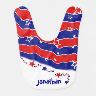US Flagge personalisiert Lätzchen