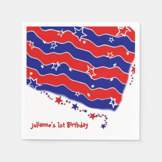 US Flagge personalisiert Servietten