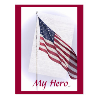 US Flagge-Postkarte
