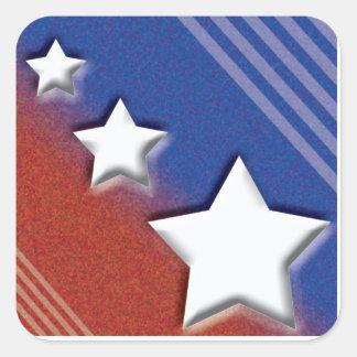 US Flagge Quadrat-Aufkleber