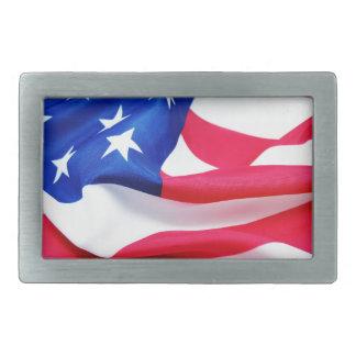 US-Flagge Rechteckige Gürtelschnalle