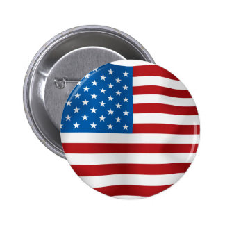 US-Flagge Runder Button 5,7 Cm