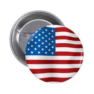 US-Flagge Runder Button 5,7 Cm