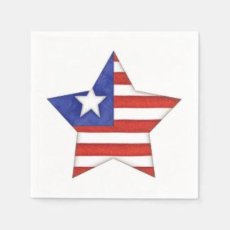 US Flagge Serviette