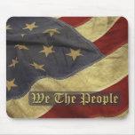 US-Flagge, wir die Leute Mousepad