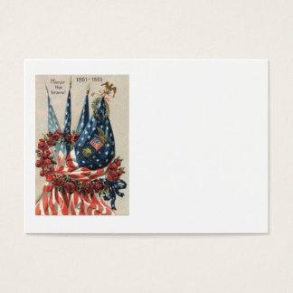 US-Flaggen-Adlerwreath-Rosen-Erinnerungstag Visitenkarte