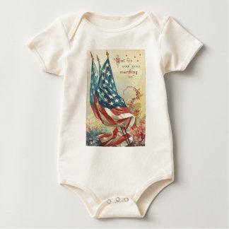 US-Flaggen-ErinnerungstagesBlume Baby Strampler