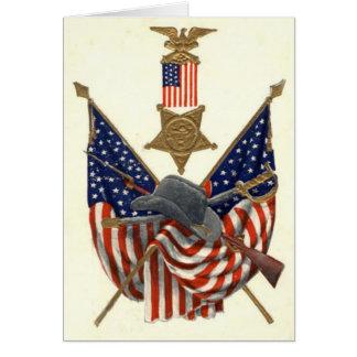 US-Flaggen-Gewerkschafts-ziviler Grußkarte