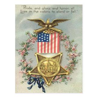 US-Flaggen-Gewerkschafts-ziviler Postkarten