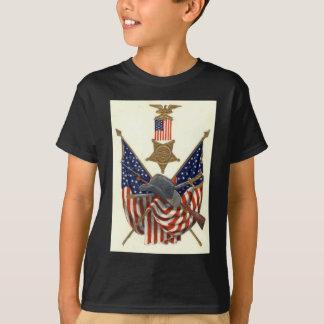 US-Flaggen-Gewerkschafts-ziviler T-Shirt