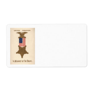 US-Flaggen-Gewerkschafts-ziviler Versandetiketten