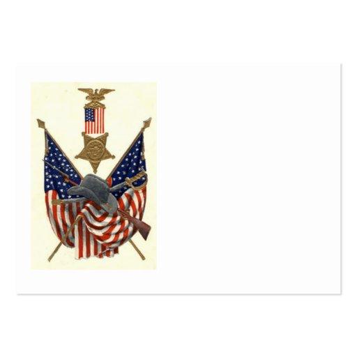 US-Flaggen-Gewerkschafts-ziviler Visitenkarten Vorlage