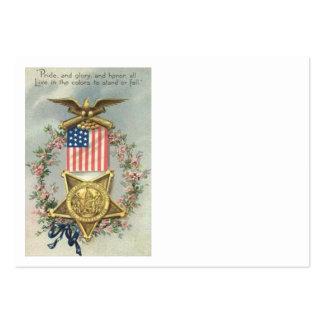 US-Flaggen-Gewerkschafts-ziviler Mini-Visitenkarten