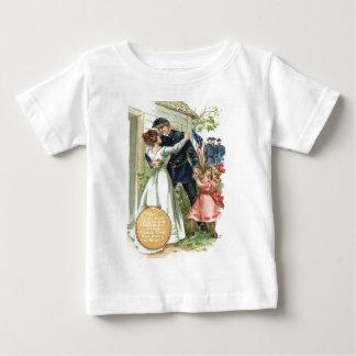 US-Flaggen-Gewerkschafts-ziviles Baby T-shirt