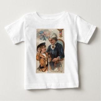 US-Flaggen-Großmutter-Jungen-Klinge-ziviler Krieg Baby T-shirt