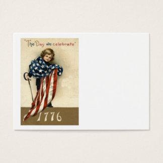 US-Flaggen-Jungen-Klinge 4. vom Juli 1776 Visitenkarte