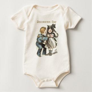 US-Flaggen-Kindereinheitlicher Dekorations-Tag Baby Strampler