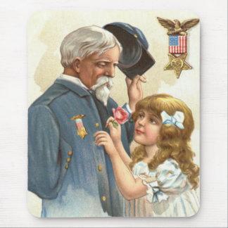 US-Flaggen-mit Behinderung Veteranen-Rosen-Mädchen Mauspads