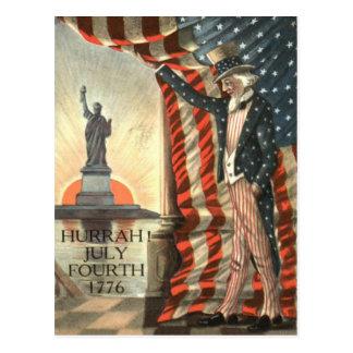 US-Flaggen-Uncle Sam Freiheitsstatue Postkarte