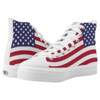 US-Flaggen-US Flagge-alter Ruhm Hoch-geschnittene Sneaker