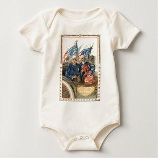 US-Flaggen-zivile Baby Strampler