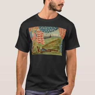 US-Flaggen-zivile Kriegs-Gewerkschafts-Medaille T-Shirt