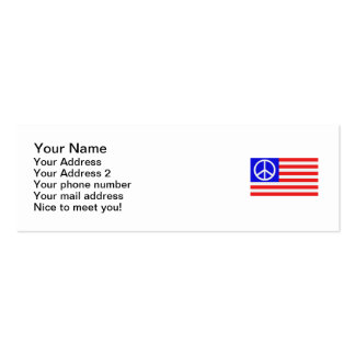 US-Flaggenfrieden Visitenkartenvorlagen