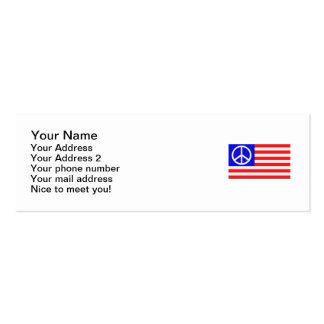 US-Flaggenfrieden Mini-Visitenkarten