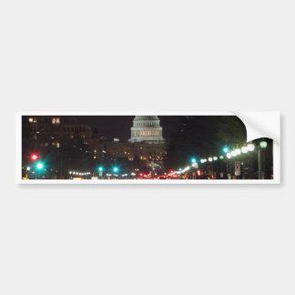 US-Hauptstadts-Gebäude nachts Auto Sticker