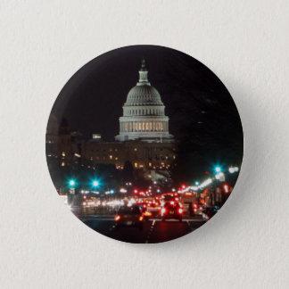US-Hauptstadts-Gebäude nachts Runder Button 5,1 Cm