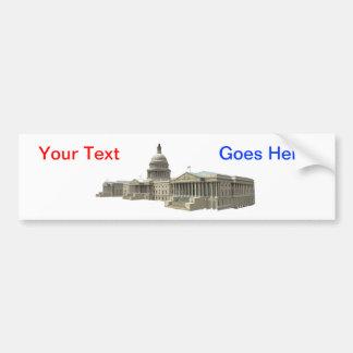 US-Hauptstadts-Gebäude: Washington DC Autoaufkleber
