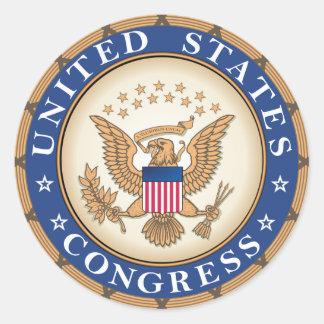 US-Kongress-Siegel Runder Aufkleber