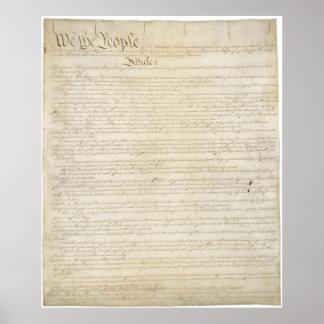 US. Konstitution Seite 1 Poster