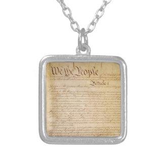 US-KONSTITUTION VERSILBERTE KETTE