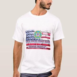 US-Küstenwache Semper Paratus Motto-Flaggen-T - T-Shirt