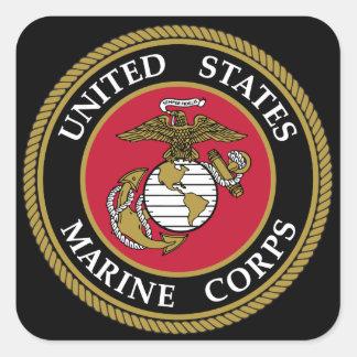 US Marine Corp-Aufkleber Quadratischer Aufkleber