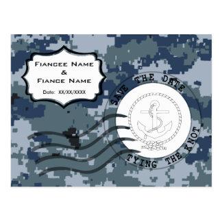 US MARINE Marine Save the Date u. Anker Postkarte