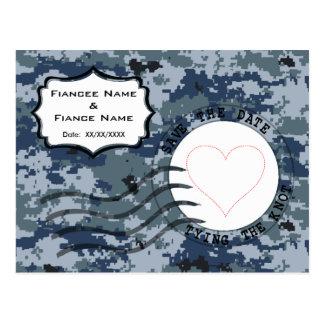 US MARINE Marine Save the Date u. Herz Postkarte