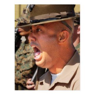 US-Marineinfanteriekorps-Rekrutenausbilder Postkarte