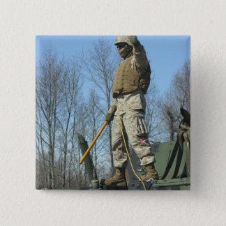 US-Marineinfanteriekorps-Sergeant gibt die Daumen Quadratischer Button 5,1 Cm