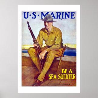 US-Marinesoldat - seien Sie ein Seesoldat Poster