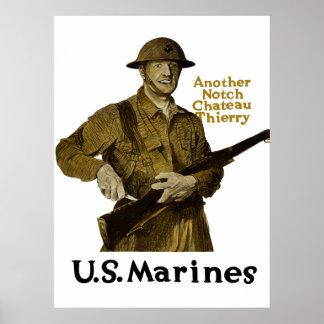 US-Marinesoldaten -- Ein anderes Kerben-Chateau Poster