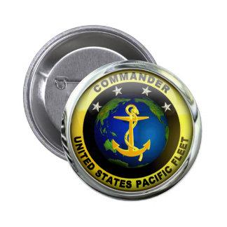 US-Pazifikflotte-Kommandant Runder Button 5,7 Cm