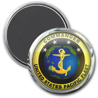US-Pazifikflotte-Kommandant Runder Magnet 7,6 Cm