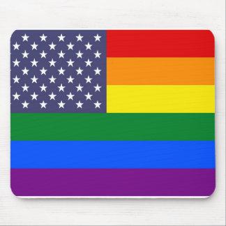 US-Regenbogen-Stolz-Flagge Mauspads
