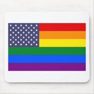 US-Regenbogen-Stolz-Flagge Mousepad