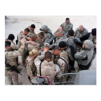 US-Soldaten, die - besonders angefertigt beten Postkarte