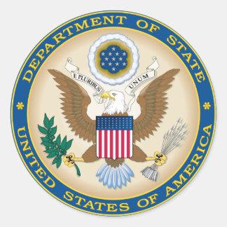 US-Staats-Abteilung Runder Aufkleber