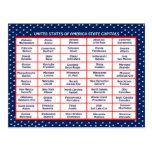 US-Staatskapitalien Postkarte